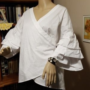 Size 2X NY Collection Wrap Around Blouse